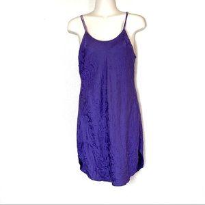 Valerie Stevens | Purple Pure Silk Dress Slip